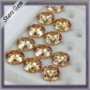 Briliant Perfect Star Cut Gold Yellow CZ for Fashion Jewelry pictures & photos