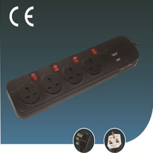 Surge-Proof Universal Socket with USB Intelligent Charging Flame-Proof Switch