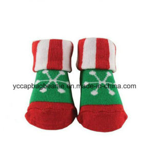 Custom Wholesale Cotton Baby Socks Like Shoe pictures & photos