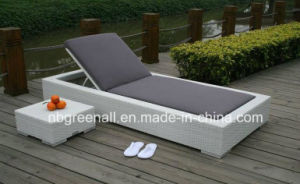 PE Rattan Chaise Lounge Hotel Furniture pictures & photos