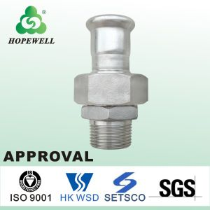Top Quality Inox Plumbing Sanitary Stainless Steel 304 316 Press Fitting Faucet Stainless Steel 25mm Tube Connectors Straight Coupling pictures & photos