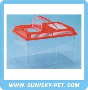Square Shape Transparent Plastic Pet Carrier (SFT-330A) pictures & photos