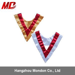 Wholesale Custom Colorful Satin V-Stole with Trim pictures & photos