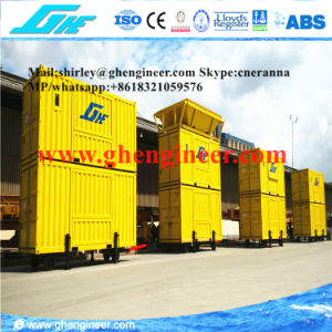Containerized Weighing and Bagging Machine with Rubber Tyre pictures & photos