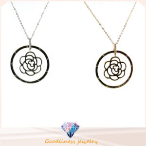 925 Sterling Silver Necklace Round Shape Pendant 925 Chain Silver Necklace N6808 pictures & photos