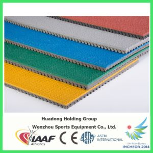 Iaaf Certified Electrical Insulation Prefabricated Synthetic Rubber Running Track pictures & photos