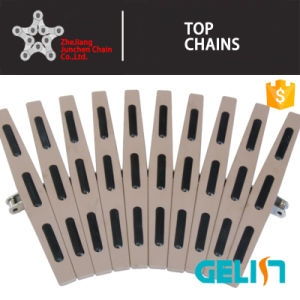 Hf820 Simple Hinged plastic Side Flexing Flat Top Chain/Rubber Top Conveyor Chains with Rubber Blanket pictures & photos