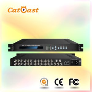 8 in 1 H. 264/MPEG-2 Encoder Modulator with DVB-C RF out pictures & photos