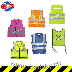 ANSI Class2 Black/ Green Factory Reflective Safety Vest with Pocket pictures & photos