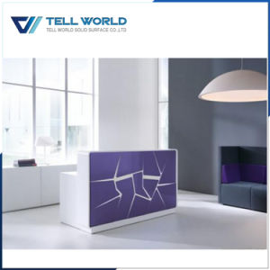 Acrylic Solid Surface Reception Desk Terse Style pictures & photos