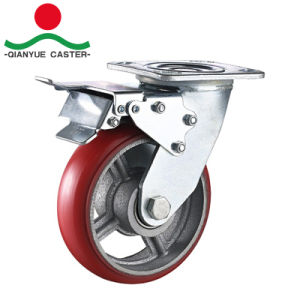Fixed / Swivel PU on Cast Iron Heavy Duty Caster Wheel pictures & photos