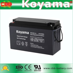 Dcg150-12 12V150ah Deep Cycle Gel Battery for Electric Boats pictures & photos
