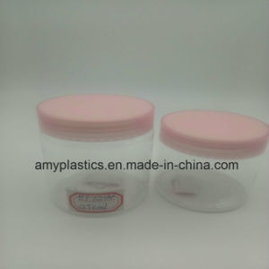 250ml Clear Plastic Jar with Lid pictures & photos