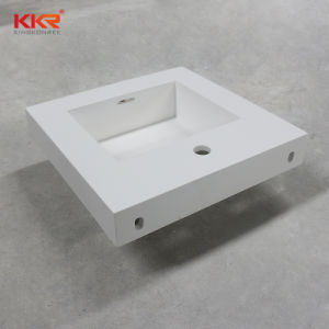 Bathroom Basin Corian Solid Surface Wall Mounted Wash Hand Basin pictures & photos