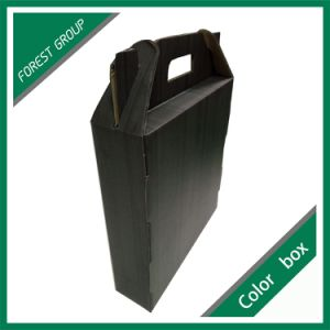 Single Bottle Corrugated Wine Packing Box with Handle pictures & photos