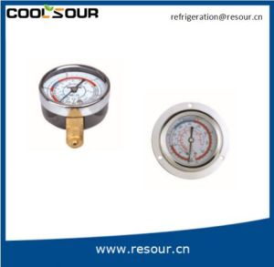 Oil Pressure Compound Gauge, Hydraulic Oil Pressure Gauges, Resour Refrigeration pictures & photos