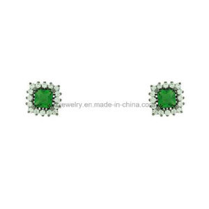Fashion Custome Jewelry Plated Copper Ear Stud Square Earrings (KE3144) pictures & photos