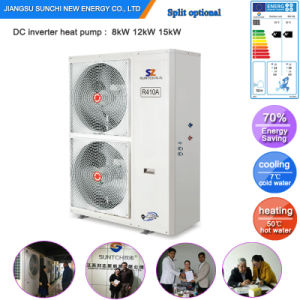 Evi Tech. -25c Cold Winter Floor Heating 100~350sq Meter Room 12kw/19kw/35kw Split System Best Discount Heat Pumps High Cop pictures & photos