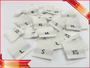 Clothing Size Label Woven Fabric Size Label pictures & photos