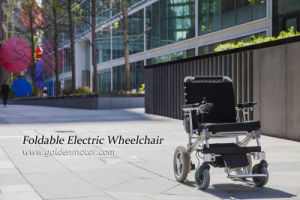 FDA 8 Inch Light Weight Brushlesss Foldable Powerful Electric Wheelchair Power Wheelchair pictures & photos
