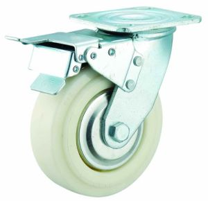 4/5/6/8 Inch Heavy Duty Rotating Nylon Caster with Brake pictures & photos