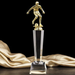 Foot Ball Crystal Glass Trophy Award for Sports Souvenir pictures & photos