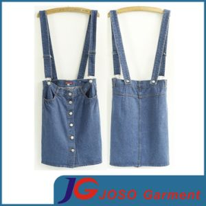 Factory Wholesale Denim Suspender Skirt (JC2047) pictures & photos