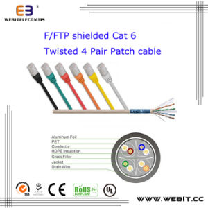 F/FTP Shielded Cat 6 Twisted 4 Pair Patch Cable pictures & photos
