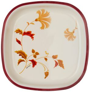 """FDA Standard Printed 10"""" Square Shaped Leaf Melamine Plate pictures & photos"""