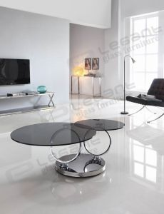 Grey Glass Coffee Table, Movable Stainless Steel Table Ca212g pictures & photos