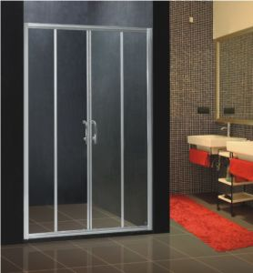 New Design Simple Shower Screen & 6mm Tempered Glass Sliding Door Shower Cubicle Lens B-025