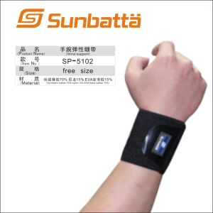 Professional 75%Synthetic Rubber, 25%Elastic Nylon Sports Wrist Support (SP-5102)