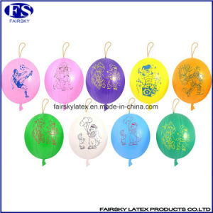 16 Inches 8g Punch Balloon with Rubber Band, Latex Balloon pictures & photos