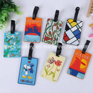Luggage Tag Souvenir Custom PVC Luggage Tag pictures & photos