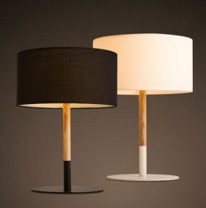 Modern Oak Wood table lamp with Fabric Shade (WH-051) pictures & photos