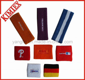 Promotion Embroidery Terry Cotton Headband Sweatband pictures & photos