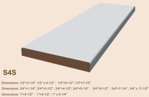 Primed MDF S4s Board/Wrapping Moulding pictures & photos