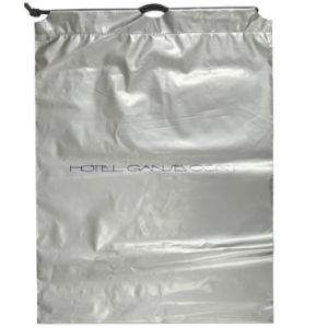 Grey Drawstring Bag for Packing (FLS-8234) pictures & photos
