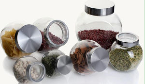 Kitchen Products Canned Goods Galss Jar Honey Jam Jar Storage Bottle Jars pictures & photos