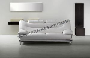 White PVC Modern Home Furniture Sofa
