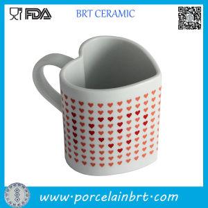 Heart Shape Heat Sensitive Ceramic Coffee Mug pictures & photos