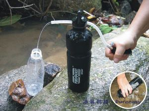 Portable Water Filter Bottle in Outdoor Sport (PF112)