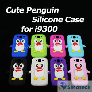 Cute Penguin Silicone Soft Back Cover Shell Skin Case for Samsung I9300 Galaxy S3