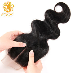Brazilian Virgin Hair with Closure 4 Bundles Brazilian Virgin Hair Body Wave pictures & photos