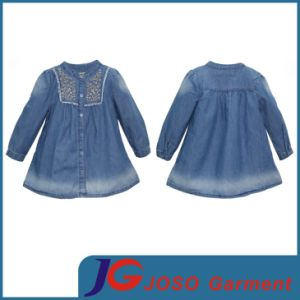 Factory Wholesale Long Denim Dress for Girls (JT5008) pictures & photos