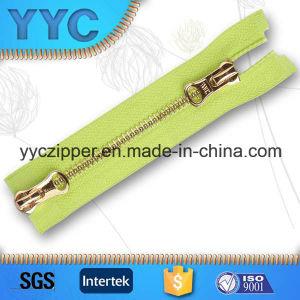 #5 Two Sided Open Gold Y Teeth Metal Zipper