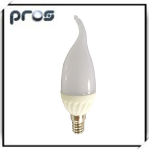 Candle White Ceramic 3W LED Light Bulbs pictures & photos
