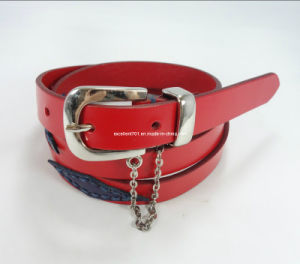 New Fashion Lady Belt of Full Grain Leather (EUBL0850-18) pictures & photos