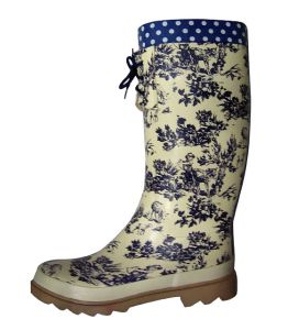 China Ladies′ Fashion Rain Boots - China Lace-up-Boot Ladies Lace