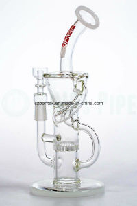 Honeycomb Perc Klein Recycler Smoking Pipe pictures & photos